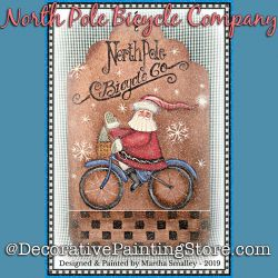 North Pole Bicycle Company DOWNLOAD Painting Pattern - Martha Smalley
