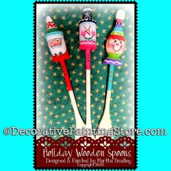 Holiday Wooden Spoons DOWNLOAD Painting Pattern - Martha Smalley