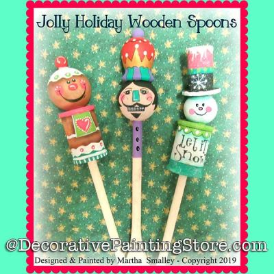 Jolly Holiday Wooden Spoons DOWNLOAD Painting Pattern - Martha Smalley