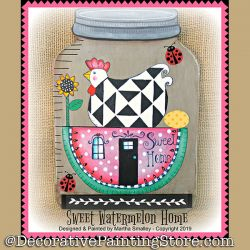Sweet Watermelon Home DOWNLOAD Painting Pattern - Martha Smalley