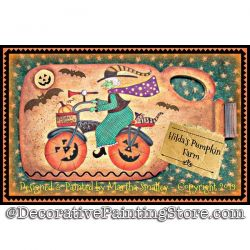 Hildas Pumpkin Farm Bicycle DOWNLOAD Painting Pattern - Martha Smalley
