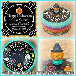 Happy Halloween Cake Cover DOWNLOAD Painting Pattern - Martha Smalley