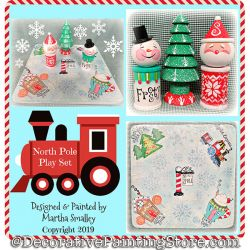 North Pole Play Set DOWNLOAD Painting Pattern - Martha Smalley