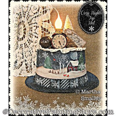 Cozy Nights Top Hat (Winter Scene) DOWNLOAD Painting Pattern - Martha Smalley