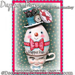 Dapper Dan Snowman DOWNLOAD Painting Pattern - Martha Smalley