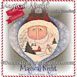 Magical Night Santa DOWNLOAD Painting Pattern - Martha Smalley