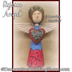 Rejoice Angel DOWNLOAD Painting Pattern - Martha Smalley