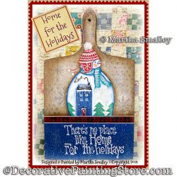 Home for the Holidays Snowman DOWNLOAD Painting Pattern - Martha Smalley