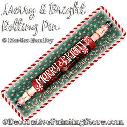 Merry and Bright Rolling Pin DOWNLOAD Painting Pattern - Martha Smalley