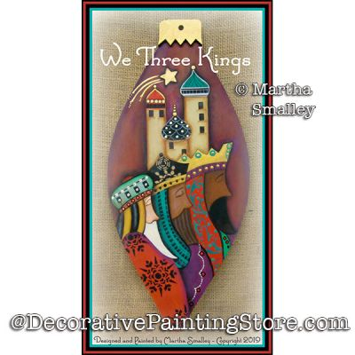 We Three Kings DOWNLOAD Painting Pattern - Martha Smalley
