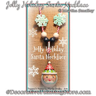 Jolly Holiday Santa Necklace DOWNLOAD Painting Pattern - Martha Smalley