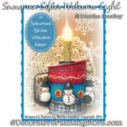 Snowman Sifter Welcome Light DOWNLOAD Painting Pattern - Martha Smalley