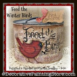 Feed the Winter Birds DOWNLOAD Painting Pattern - Martha Smalley