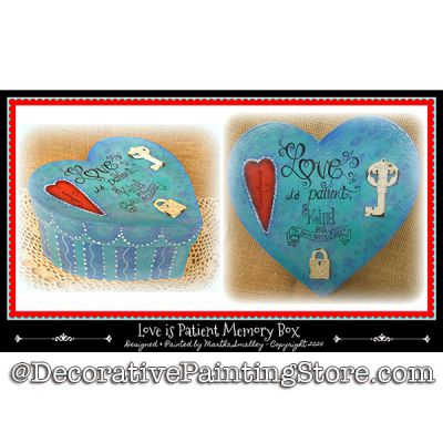Love Is Patient Memory Box DOWNLOAD Painting Pattern - Martha Smalley