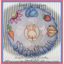 Sweet Springtime Plaque DOWNLOAD Painting Pattern - Martha Smalley