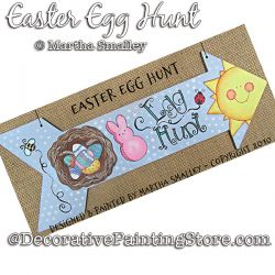 Easter Egg Hunt Arrow Plaque Painting Pattern DOWNLOAD - Martha Smalley
