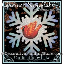 Cardinal Snowflake Plaque Painting Pattern DOWNLOAD - Martha Smalley