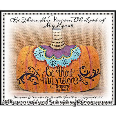 Be Thou My Vision Pumpkin Plaque Painting Pattern DOWNLOAD - Martha Smalley