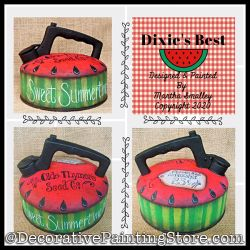 Dixies Best (Watermelon Tea Kettle) Painting Pattern DOWNLOAD - Martha Smalley