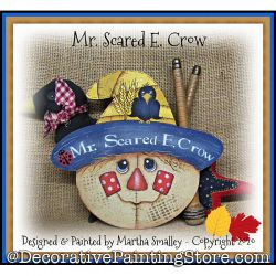 Mr. Scared E. Crow Painting Pattern DOWNLOAD - Martha Smalley