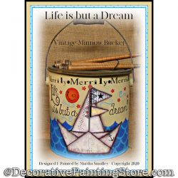 Life Is But a Dream (Sailboat) Painting Pattern DOWNLOAD - Martha Smalley