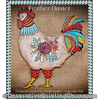 Feather Duster (Rooster) Painting Pattern DOWNLOAD - Martha Smalley