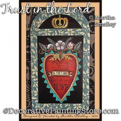 Trust in the Lord Painting Pattern DOWNLOAD - Martha Smalley