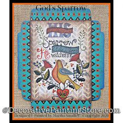 Gods Sparrow Painting Pattern DOWNLOAD - Martha Smalley