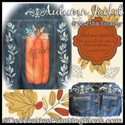 Autumn Jacket (Pumpkin / Denim Jacket) Painting Pattern DOWNLOAD - Martha Smalley
