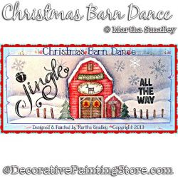 Christmas Barn Dance Painting Pattern DOWNLOAD - Martha Smalley
