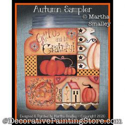 Autumn Sampler Painting Pattern DOWNLOAD - Martha Smalley