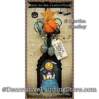 Under the Jack-o-Lantern Moon Painting Pattern DOWNLOAD - Martha Smalley