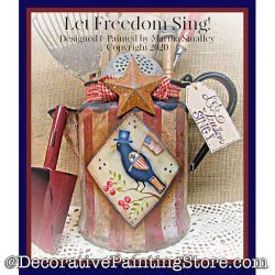 Let Freedom Sing Painting Pattern DOWNLOAD - Martha Smalley