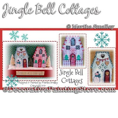 Jingle Bell Cottages Painting Pattern DOWNLOAD - Martha Smalley