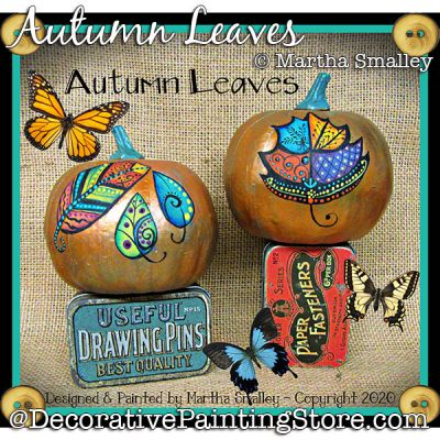 Autumn Leaves Painting Pattern DOWNLOAD - Martha Smalley