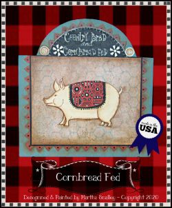 Cornbread Fed (Pig) Painting Pattern DOWNLOAD - Martha Smalley