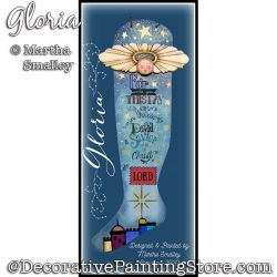 Gloria (Angel Stocking) Painting Pattern DOWNLOAD - Martha Smalley