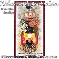 Welcome Winter Lantern (Snowman) Painting Pattern DOWNLOAD - Martha Smalley