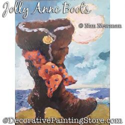 Jolly Anne Pirate Boot Painting Pattern PDF DOWNLOAD - Nan Newman