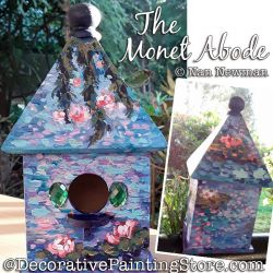 The Monet Abode (Birdhouse) Painting Pattern PDF DOWNLOAD - Nan Newman