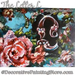 The Letter L (Rose) Painting Pattern PDF DOWNLOAD - Nan Newman