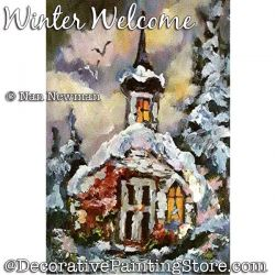 Winter Welcome (Church) Painting Pattern PDF DOWNLOAD - Nan Newman