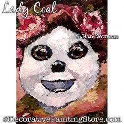 Lady Coal (Snowman) Painting Pattern PDF DOWNLOAD - Nan Newman