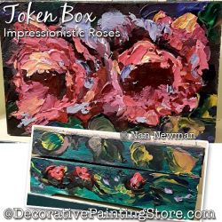 Token Box (Impressionistic Roses) Painting Pattern PDF DOWNLOAD - Nan Newman