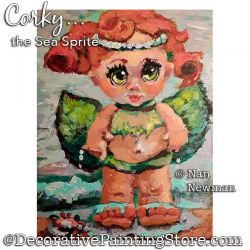 Corky the Sea Sprite Painting Pattern PDF DOWNLOAD - Nan Newman