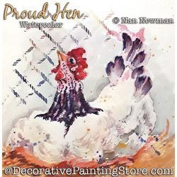 Proud Hen (Watercolor Bumblebee) Painting Pattern PDF DOWNLOAD - Nan Newman