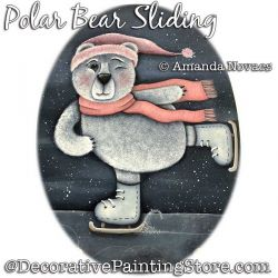 FREE Polar Bear Sliding Painting Pattern PDF DOWNLOAD - Amanda Novaes