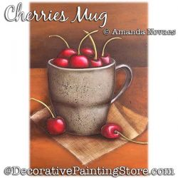Cherries Mug Painting Pattern PDF DOWNLOAD - Amanda Novaes