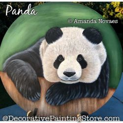 Panda Painting Pattern PDF DOWNLOAD - Amanda Novaes