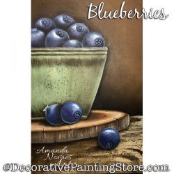 Blueberries Painting Pattern PDF DOWNLOAD - Amanda Novaes